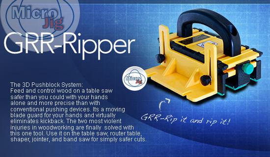 "Micro Jig  ""GRR-Ripper"" 3D pushblock system"