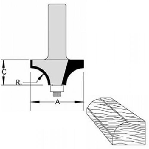 "Beading Bit with BB Guide 5/32"" Radius 3/8"" Cut Length  1/4"" Shank"