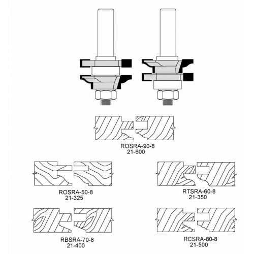 "Reversible Style & Rail 1-3/4"" Classical Cut"