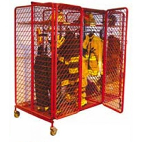 "Double Sided Red Rack 64"" Secured"