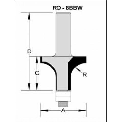 "Wesflex Style Bit 1-1/2"" x 1-1/4"" x 1/2"" Shank"