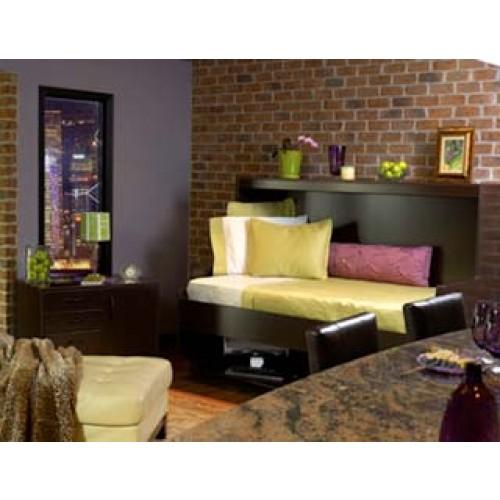 Twin XL Hideaway Desk Bed (Black)