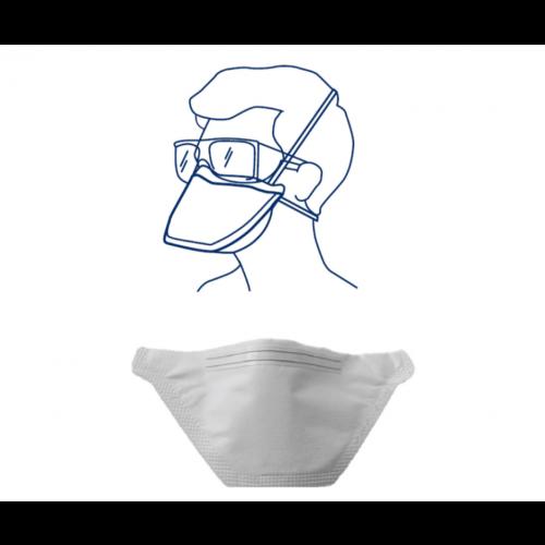 3M OPT-4190.010-40 Universal Fit N95 Respirator, 40 Per Box