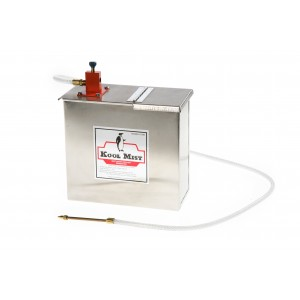"""1 Gallon Stainless Steel Tank with 6"""" x 5/16"""" Brass Nozzle and one outlet."""