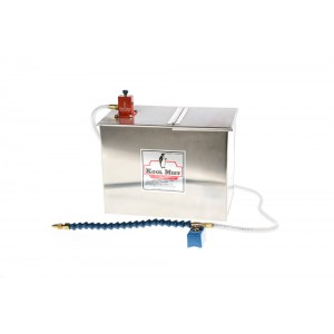 """1 Gallon Stainless Steel Tank with 48"""" Nylon Coolant Line, 12"""" Flexline Nozzle and one outlet"""