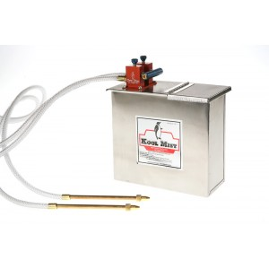 """1 Gallon Stainless Steel Tank with 6"""" x 5/16"""" Brass Nozzle and two outlets."""