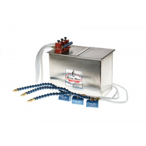 """3 Gallon Stainless Steel Tank with 12"""" Flexline Nozzle, 48"""" Nylon Braided Coolant Line and three outlets."""