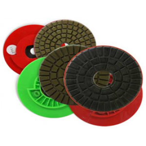 "5"" Wht Buff Grit  Edge Wheels & Polishing Pads - Snail Lock Price"