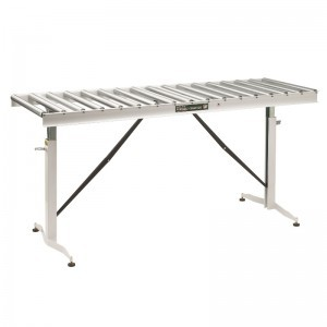 66-INCH LONG 22-INCH WIDE ADJUSTABLE FOLDING CONVEYOR TABLE