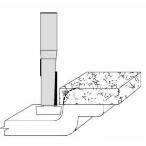 """Overhang Cutout Bit 1/2"""" x 1"""" w/VT Bearing"""