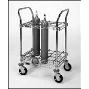 12 Bottle Mobile EMS Oxygen Cart
