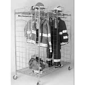 "Double Sided Mobile Ready Rack 8 sections-18"" per section"