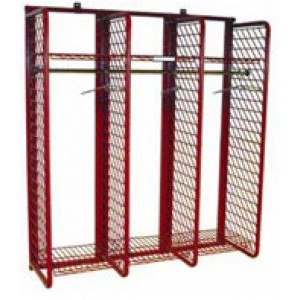 """Red Rack Gear Storage 20""""D x 72""""H x 63.25""""  / 20"""" wide sections"""