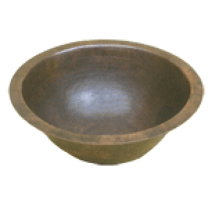 "Oval Hammered Round 17"" Sink Bowl"