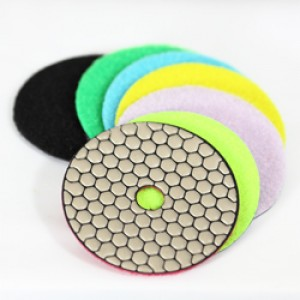 "EA Dry Polishing Pads 4"" Set"