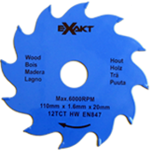 Carbide Tipped Blade 110mm x 12 TCT / Wood (1 pc pac)