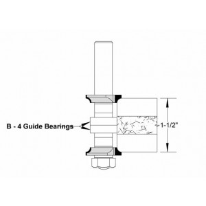 Corner Round Cooktop Bit Assembly