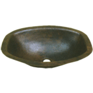 "Oval Hammered Square 17"" Sink Bowl"