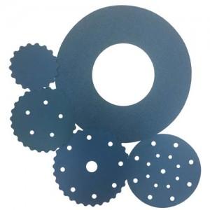 "11"" x No Holes 100 Grit H&L Hi-Per Blue Round Film Discs  1 pc."