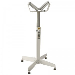 16-INCH WIDE SUPER DUTY ADJUSTABLE PEDESTAL ROLLER STAND
