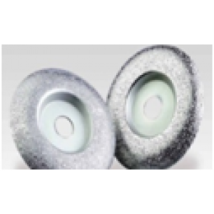 """4"""" 4""""  20mm    ROUNDED Coarse Grinding Wheel   20mmArbor"""