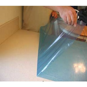 """Countertop Protective Film 2mil Blue 24"""" x 600"""